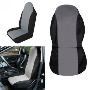 Details about 1PC Car Front Seat Cover Cushion Protector Black + Gray  Anti-Dust Four Seasons