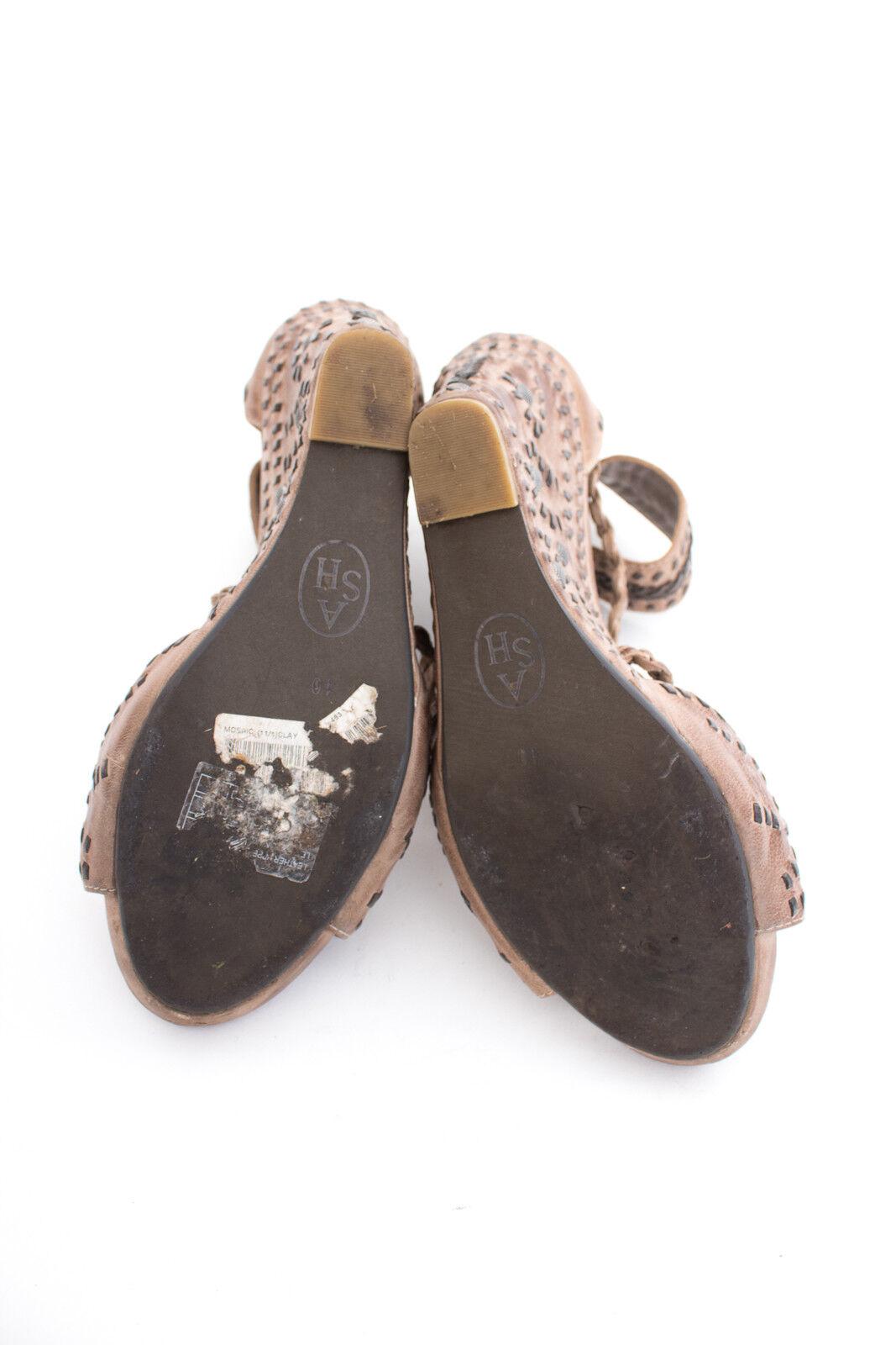 ASH Sandaletten Gr. EU 40 Damen Schuhe High Heels Pumps Shoes Braun Leder
