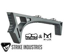 Strike Industries GREY LINK Curved Angled Fore Grip Fits BOTH  KeyMod & M-LOK