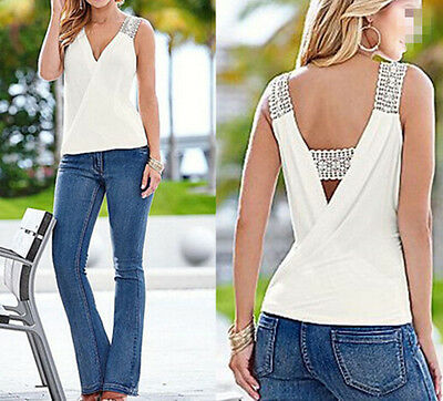 Casual Sleeveless Top Tank Tops Vest Summer Fashion  Women T-Shirt Blouse Blouse