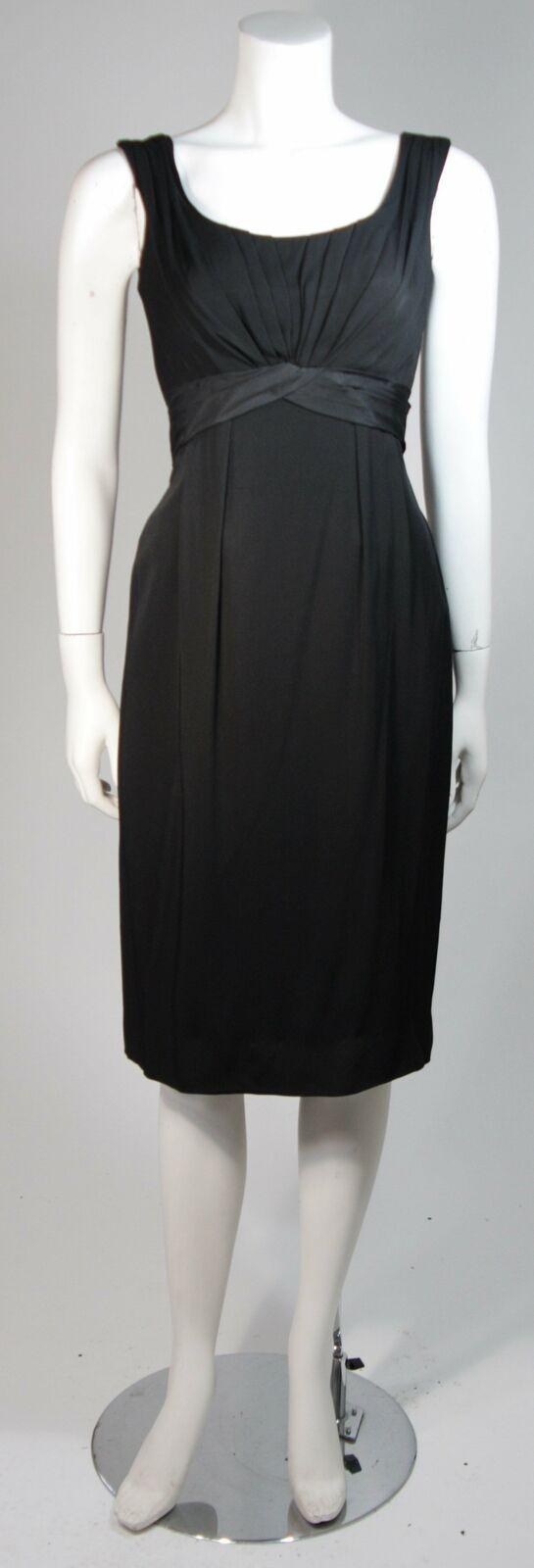 CEIL CHAPMAN 1950s Black Draped Cocktail Dress Si… - image 2