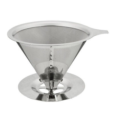 Portable Metal Stainless Steel Coffee Filter Funnel/V-type Cup Filters Tea Set