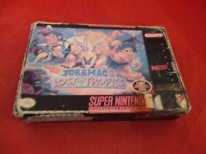 Joe-amp-Mac-2-Lost-in-Tropics-Super-Nintendo-SNES-Empty-Box-ONLY-no-manual-game