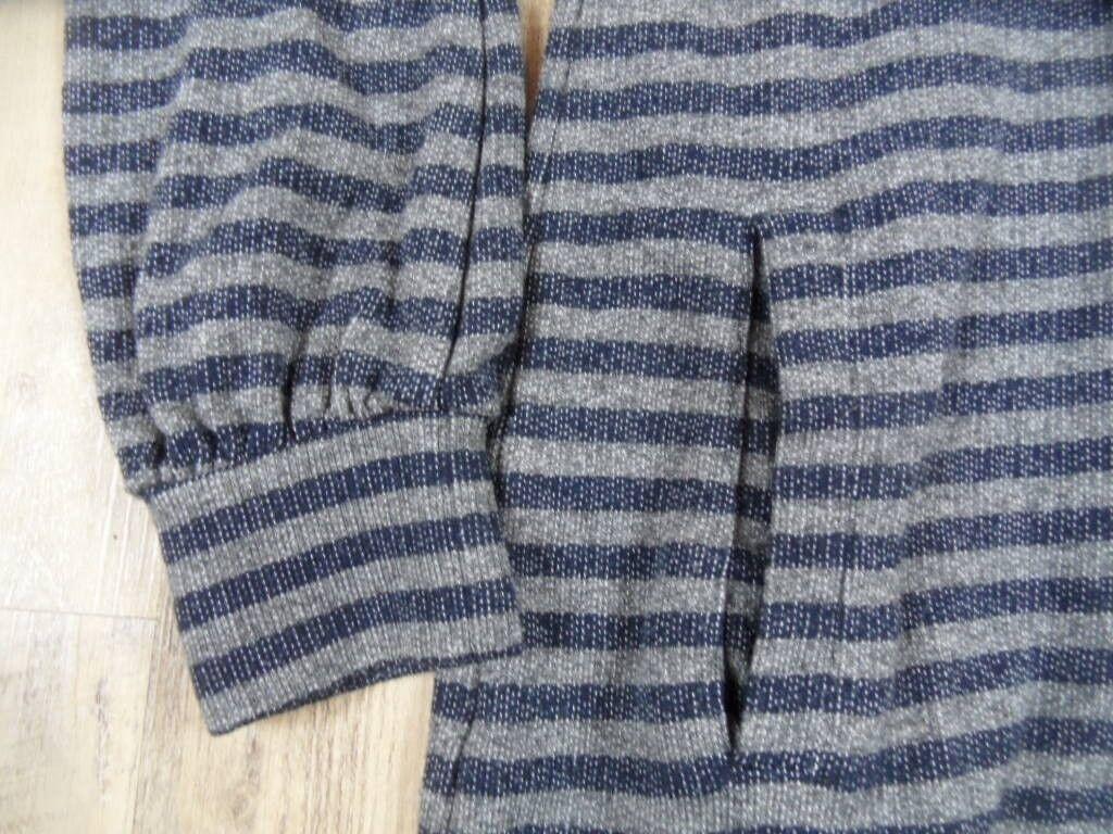 NOLITA Cool Cool Cool Grigio Blu Righe sweatkleid M. collo tg. 40 Top bi1217 49ff1e