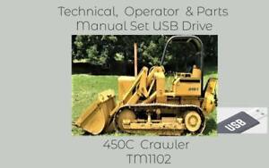 John Deere 450C Crawler Technical & Operator Manual + Parts Catalog Complete Set