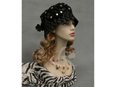 Female Mannequin Head Bust Wig Hat Jewelry Display #MD-HelenF3