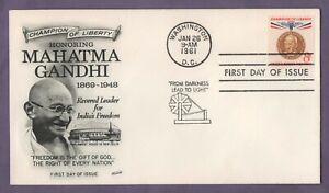 Gandhi líder de la Libertad Usa Primer Día Cubierta de 1961 sin resolver