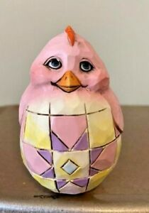 Jim Shore Easter Colorful Egg Hand-Painted Chick Free Shipping