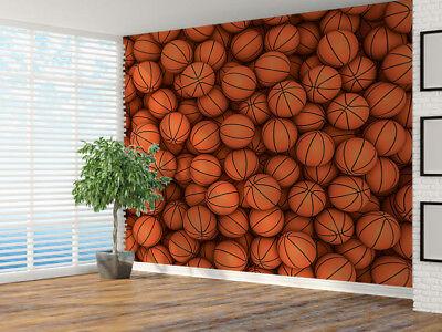 44574856 Basketballs 3D photo Wallpaper wall mural 3D Balls