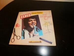 elvis presley record vintage album lp elvis sings for children