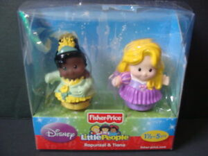 Disney Songs Palace Little People Princess Kiana /& Rapunzel Doll Figures