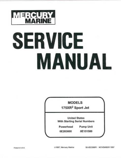mercury 175 175xr sportjet sport tracker jet boat drive sea ray rh ebay ca sea ray 175 manual sea ray manual pdf