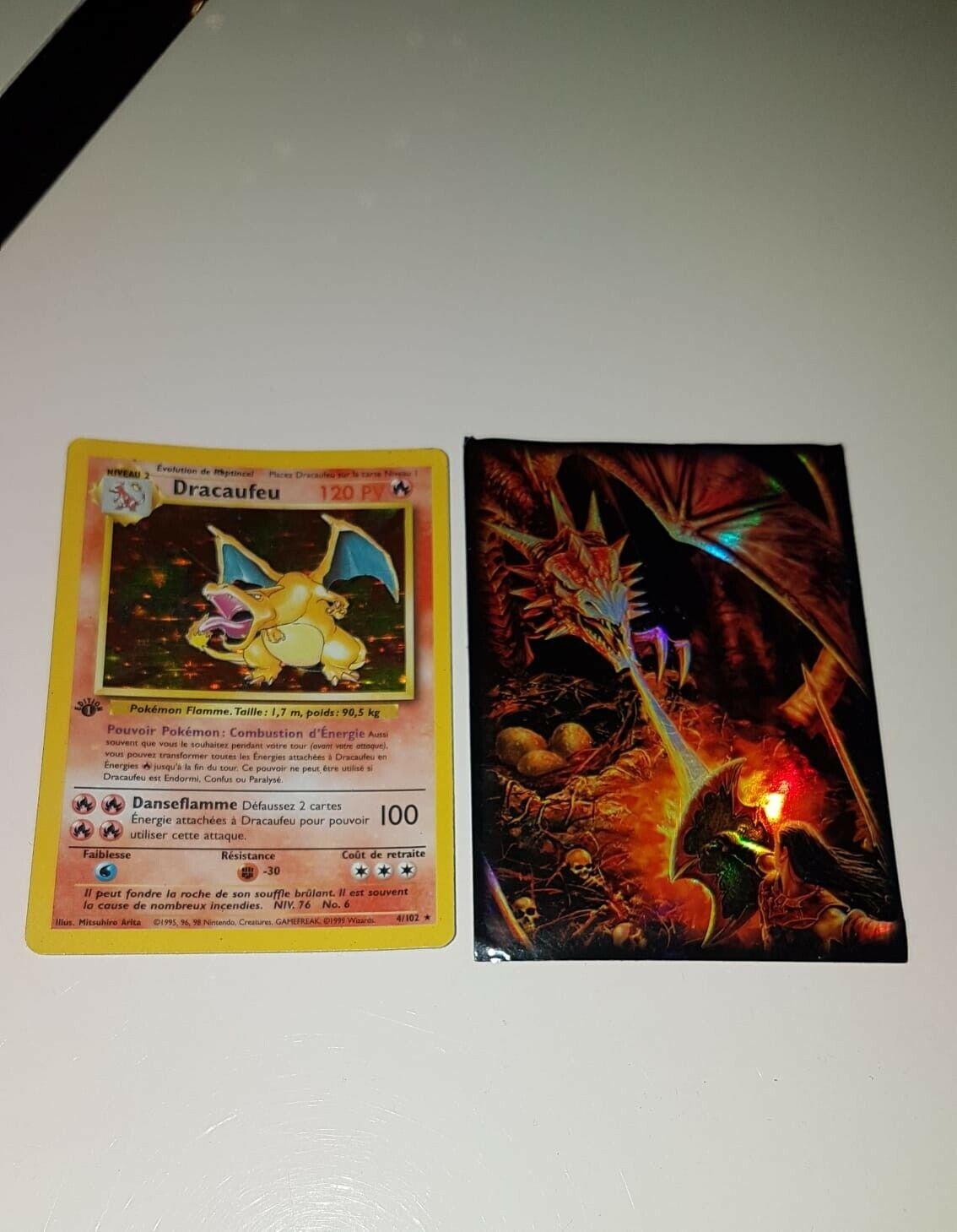 Pokemon card dracaufeu 4 102 rare basic set wizard fr edition 1 near new