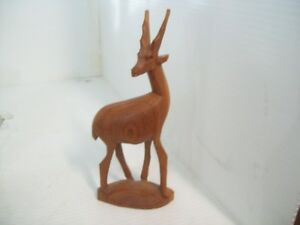 8-034-Wooden-Gazelle-Hand-Carved-in-Kenya-African-Art-Collectible