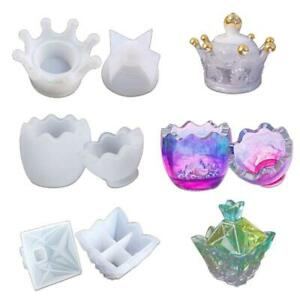 3Pc-Epoxy-Resin-Molds-Crown-Egg-Pyramid-Storage-Box-Molds-Silicone-Molds-for-DIY