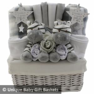 Baby Gift Basket Hamper Unisex Twin Baby Shower Gift Nappy Cake
