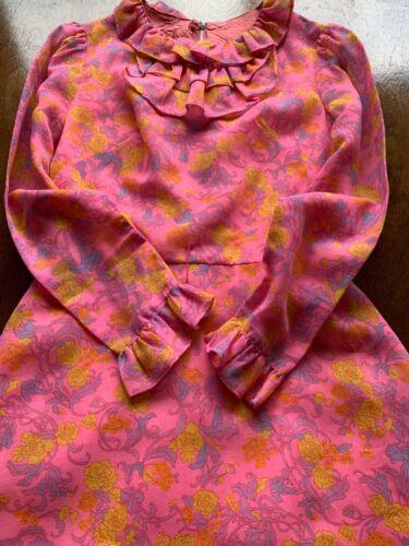 Vintage Retro Dolly Rockers bright flower pink dre