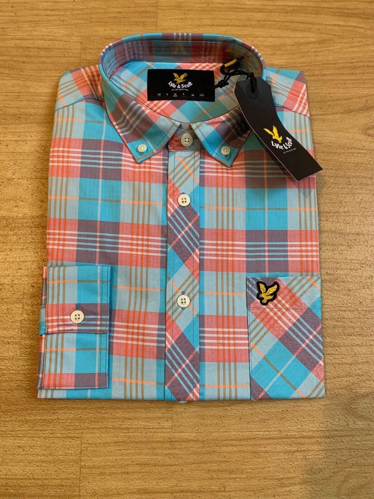 Lyle And Scott Pink And bluee Shirt Medium