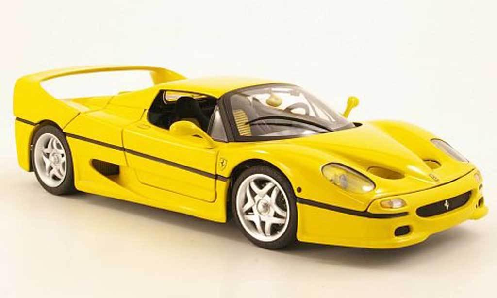 1 18 heta hjul Elite Ferrari F50 gul Hardtop begränsad RARE NEW tärningskast -modelllllerl
