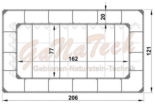 ✔ Montageset Verbinder Winkelclips für Gabionen Hochbeet OHNE Doppelstabmatten