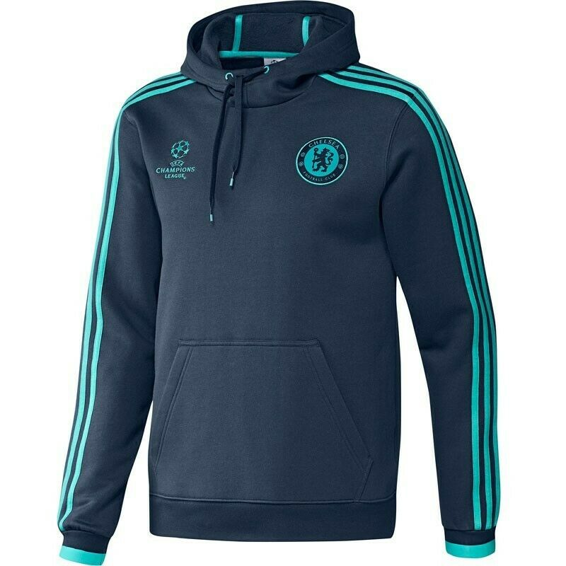 Adidas FC Chelsea Capucha Personalizar Chaqueta Sudadera Azul Hombre Nuevo