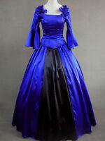 Aristocrat Lolita Renaissance Victorian Blue Long Dress Ball Gown S M L XXL XS