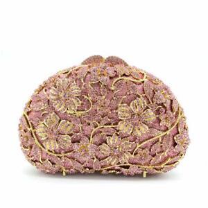 Korea Pink Clutch Evening Bag Crystal Handmade Women Diamante Purse Diamond VpSUMqz