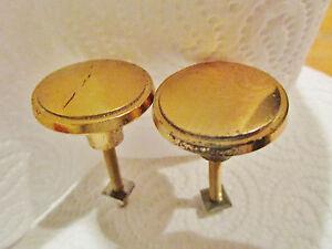 AgréAble 2 Poignées Rondes En Bronze 1970 Vintage