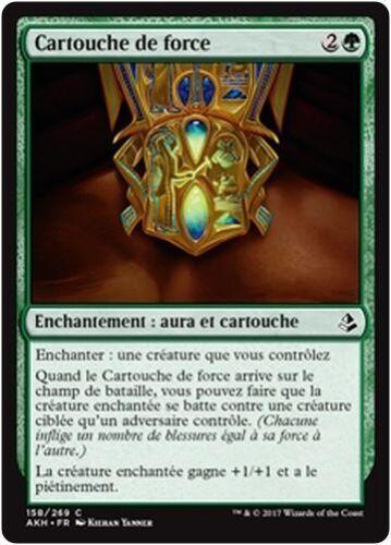 MTG Magic AKH - Cartouche of Strength//Cartouche de force x4 French//VF
