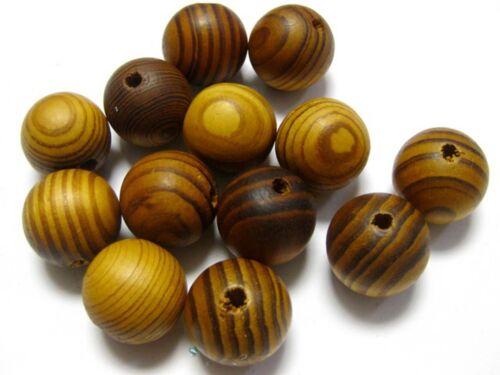 Naturel Motif Lisse Rond en Bois Perles en Bois spacer 6mm-20mm Craft bijoux bricolage