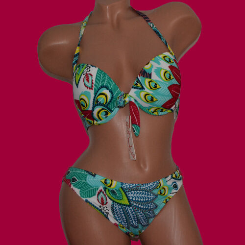 611 3-teilig NEU Push-Up Bikini mit Binderock