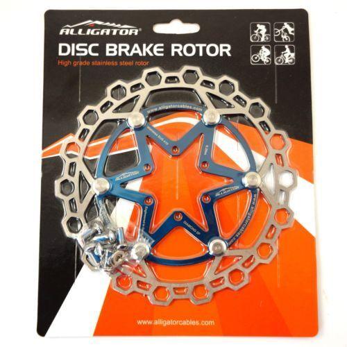 Silver//Black//Red//Ti//Blue//Orange ALLIGATOR Diamond 2P Floating Brake Rotor 160mm