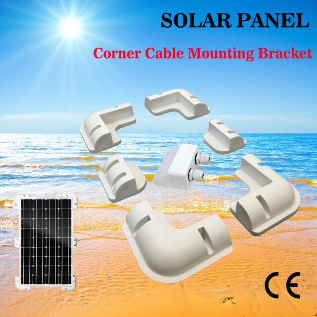 7PCS Solar Panel Kit Corner Mounting Brackets Caravan Boat Roof Mount