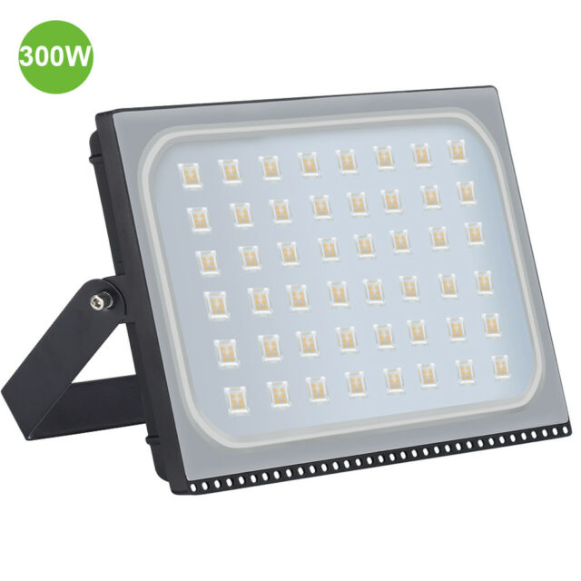 VIUGREUM LED Floodlight 300W Garden Lighting Outdoor Seucrity Lights Warm White