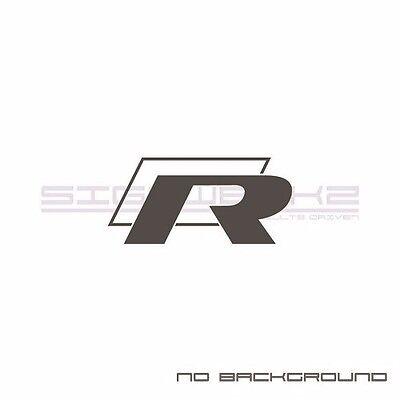 VW R Decal Sticker EURO Racing mod VW GLI R32 R 2.0T turbo Jetta Passat Pair