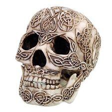 Celtic Knotwork Collectible  Bone Skull Figurine Desktop Decor