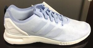 buy popular ba856 7c56c Details about ADIDAS WOMENS ZX FLUX SMOOTH TRAINER LIGHT BLUE/LILAC SUEDE  **REDUCED**