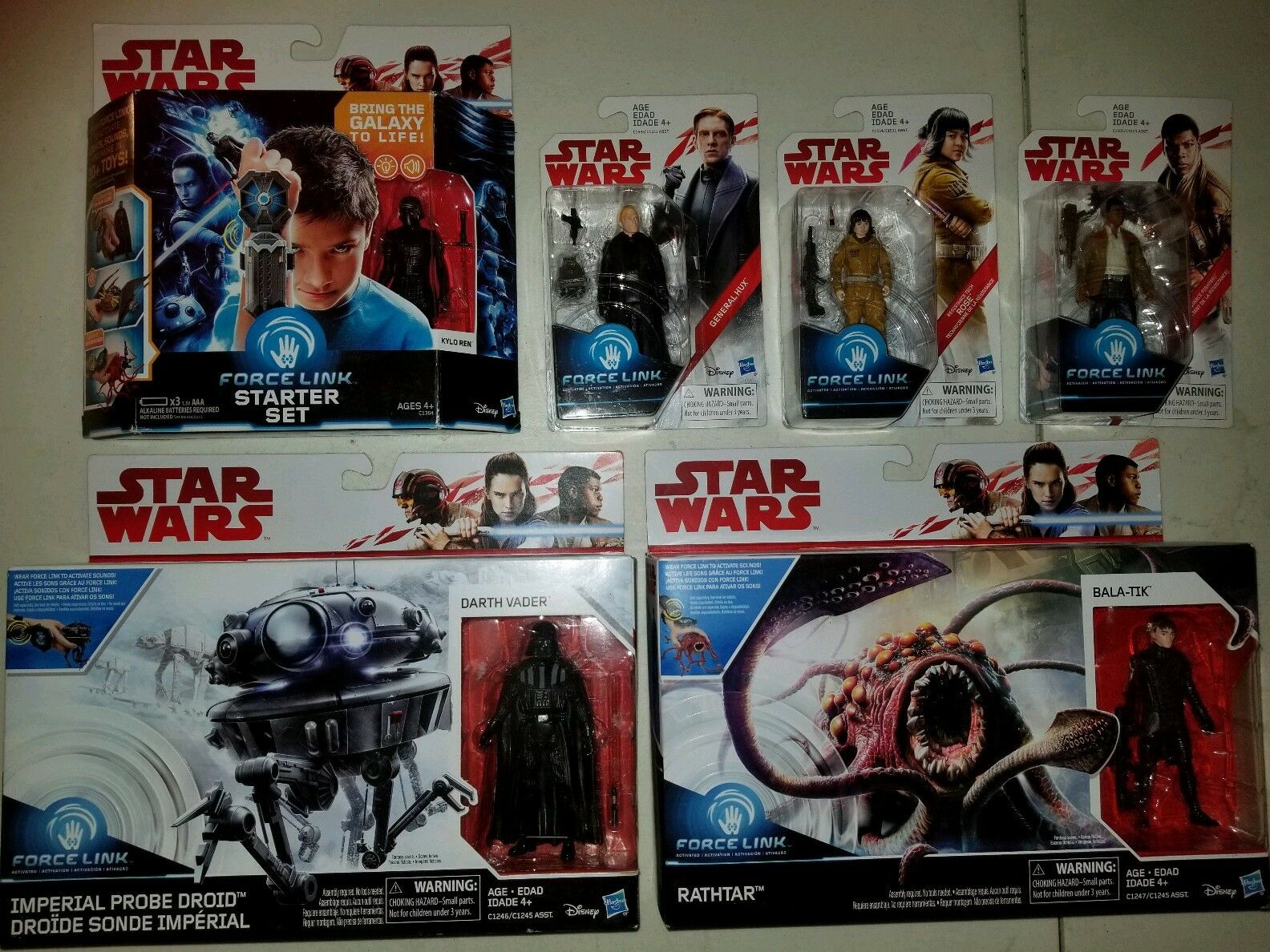 Star Wars FORCE LINK DARTH VADER,BALA-TIK,FINN,pink,G HUX,KYLO REN ActionFigure