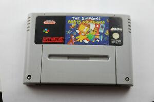 Jeu-THE-SIMPSONS-BART-039-S-NIGHTMARE-pour-Super-Nintendo-SNES-version-PAL
