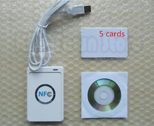 Details about NFC ACR122U RFID Contactless smart Reader & Writer/USB + SDK  + Mifare IC Card