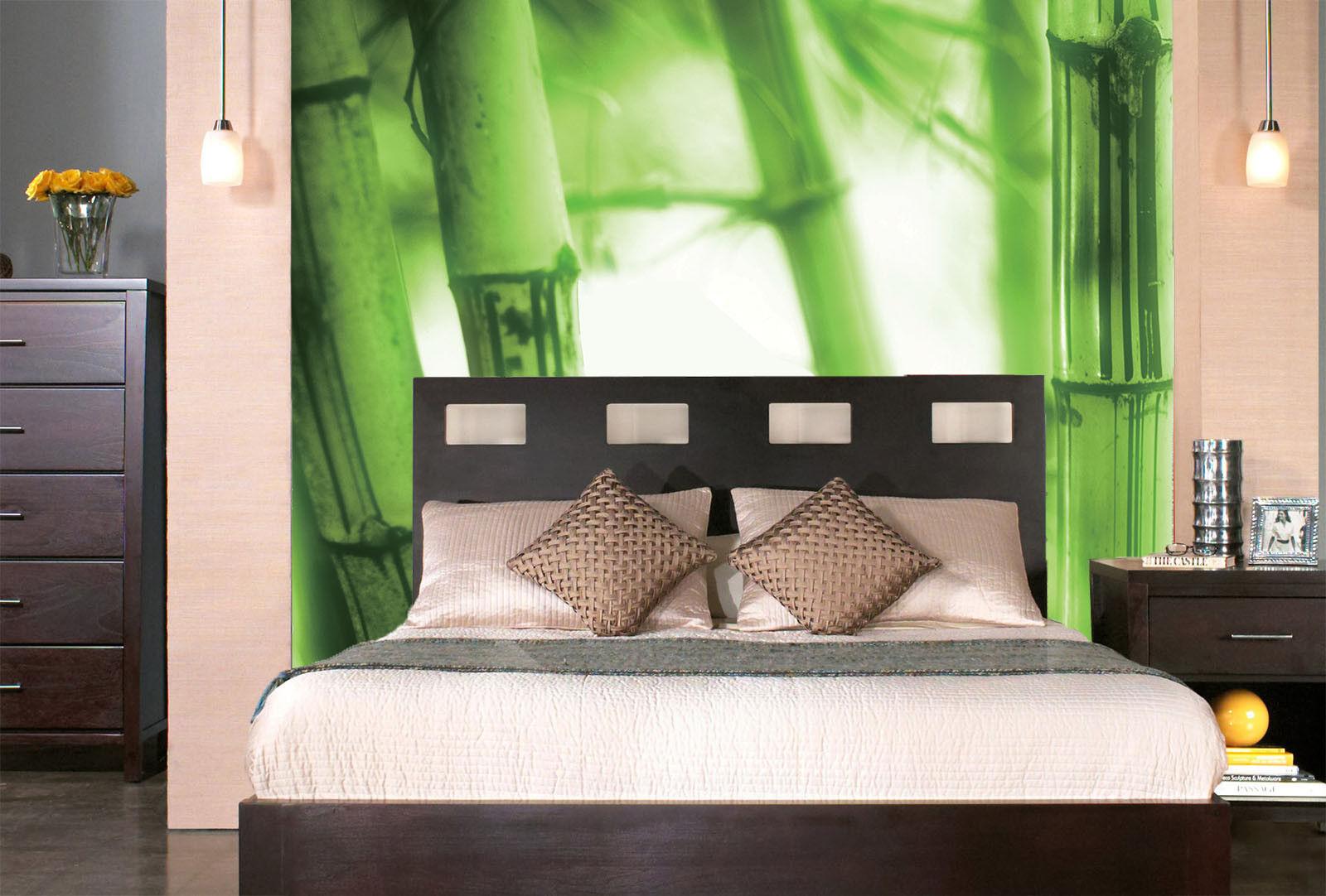 3D Grüner Bambus 73 Tapete Wandgemälde Tapete Tapeten Bild Familie DE Summer