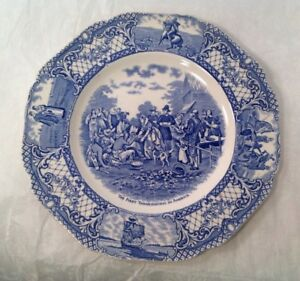 CROWN-DUCAL-COLONIAL-TIMES-FIRST-THANKSGIVING-PLATE