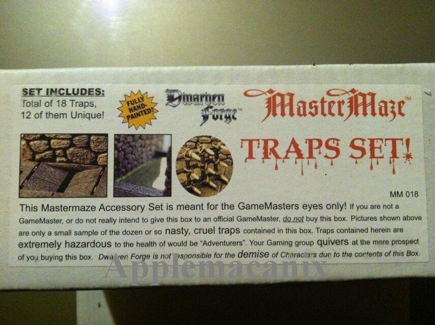 NEW Dwarven Forge TRAPS SET  MM-018 D&D Master Maze Resin Dungeon Tiles SEALED
