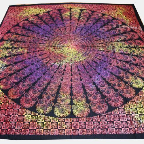 Couverture de jour Bettüberwurf 100/% coton Rainbow Mandala Dekotuch Chiffon 210x230 cm