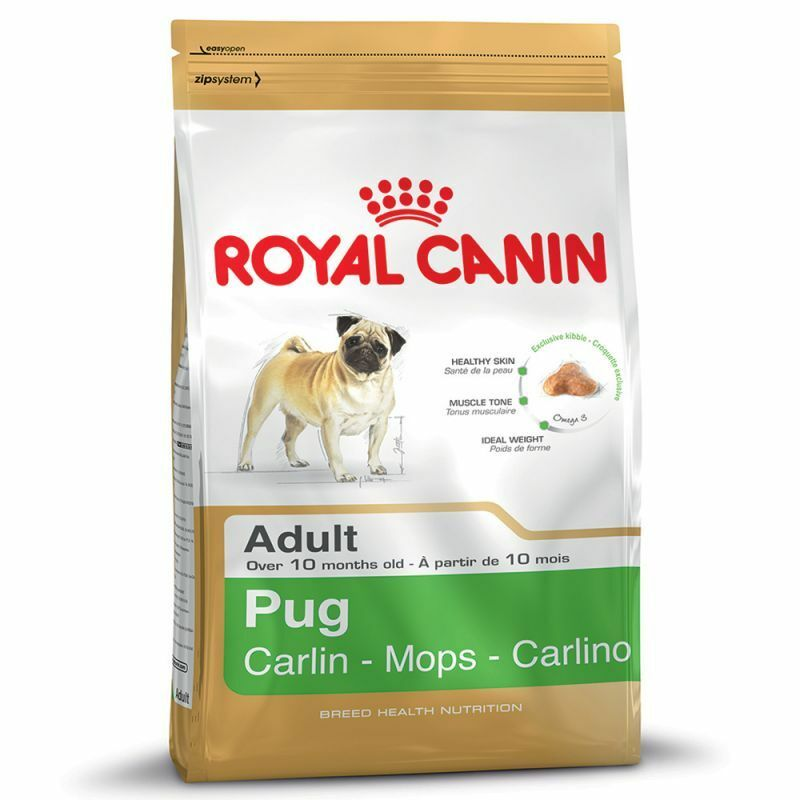Dry Doog Food Royal Canin Pug Adult Economy Pack 3 x 3kg Rice Predein Healthy