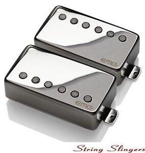 EMG-57-amp-EMG-66-pair-of-Active-Humbuckers-Chrome-Solderless