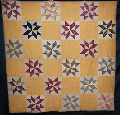 Antico Star Trapunta 1880's Eight Point Patchwork Enigma 70 X 69 Cm Forte Resistenza Al Calore E All'Usura Dura