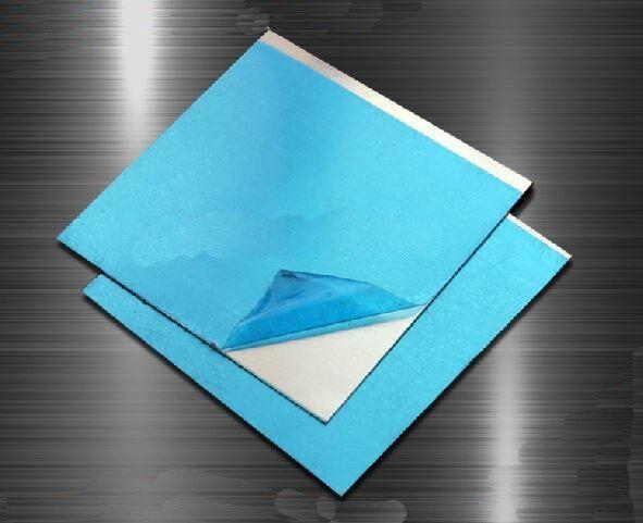 5pcs 7075 Aluminum Al Alloy Shiny Polished Plate Sheet 1mm * 100mm * 100mm