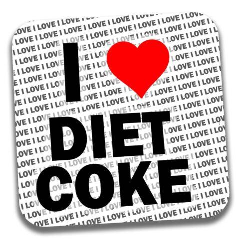 I Love Diet Coke Boissons Coaster-Cadeau-Anniversaire-Stocking Filler