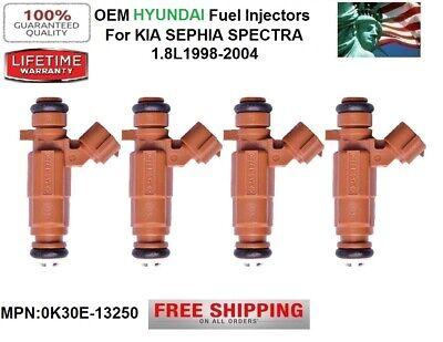 Flow Matched OEM Set Of 4 Fuel Injectors For Kia Spectra Sephia 1.8L 0K2A5-13250